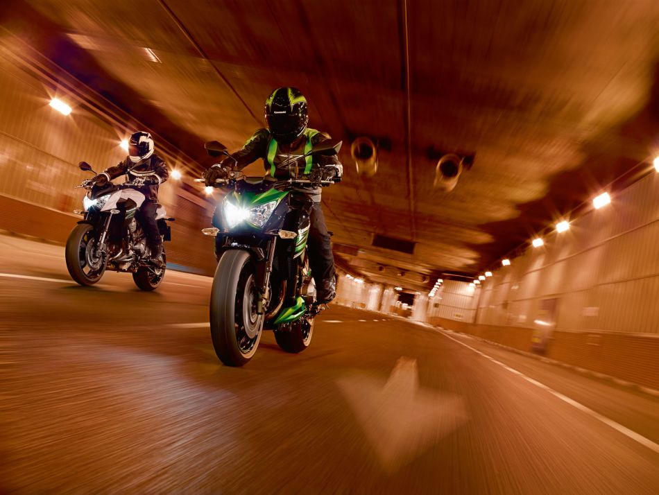 Die Kawasaki ist enorm sportlich