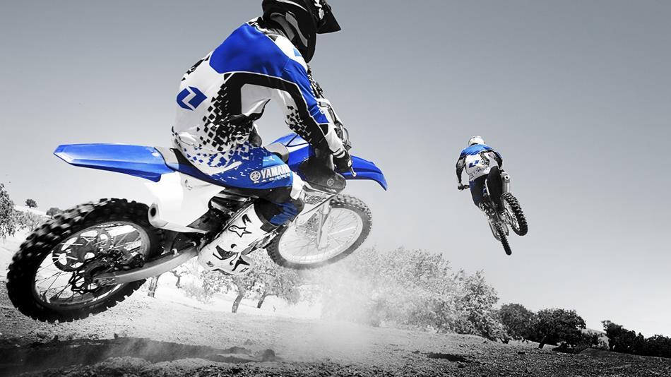 Volle Power bietet die YZ 450 von Yamaha