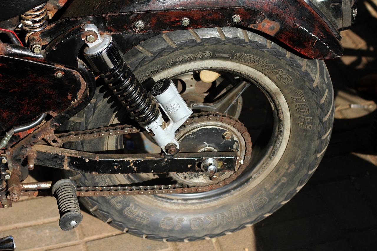 wenig schräglage motorrad