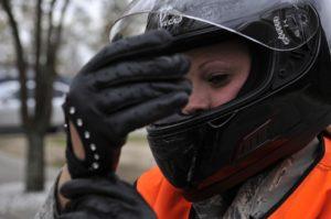 Warnweste für Motorradfahrer